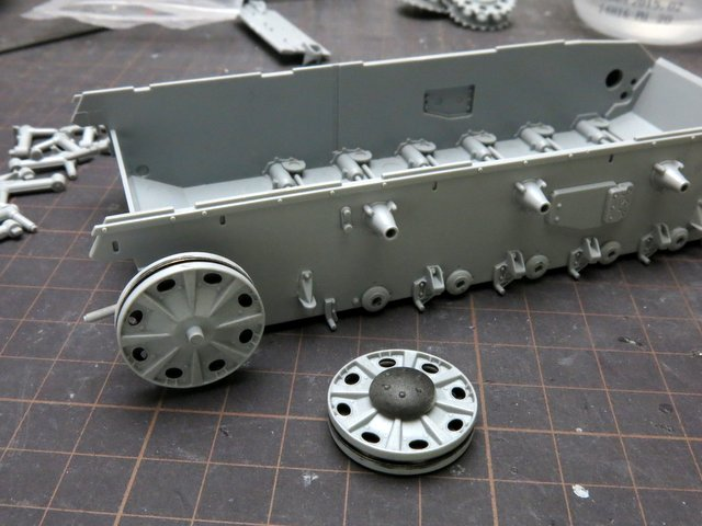 ドラゴンのIII号E型(スマートキット)製作記-4