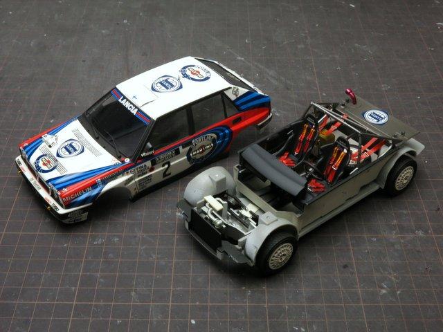 プラモデルの修理-Lancia Delta 16v