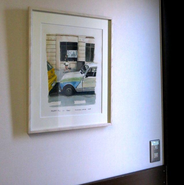 溝呂木さんの個展『SPORTS CAR RACING in water color』