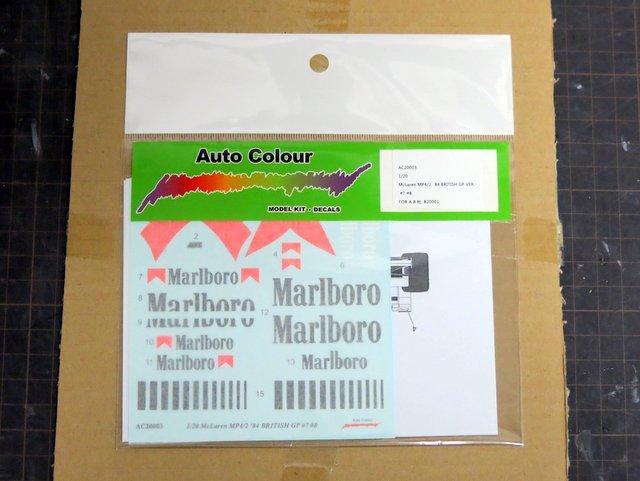 Auto ColourのMP4/2用マルボロデカール