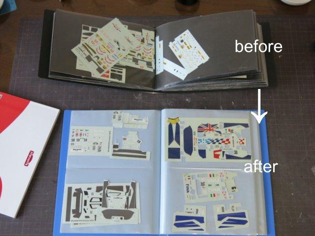 本とデカールの整理方法についての再考