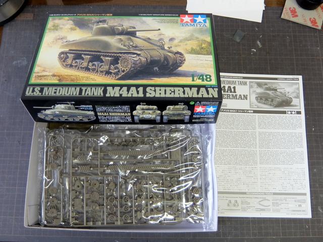 タミヤの1/48シャーマンM4A1製作記-1