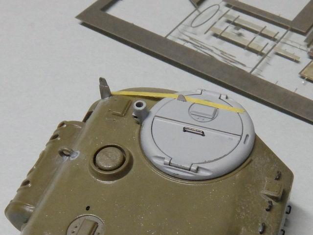 タミヤの1/48シャーマンM4A1製作記-13