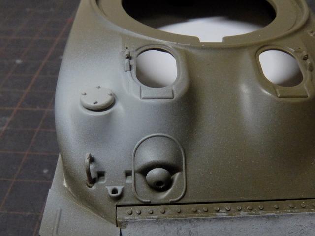 タミヤの1/48シャーマンM4A1製作記-14