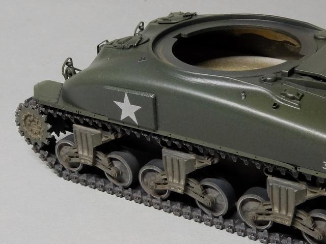 タミヤの1/48シャーマンM4A1製作記-25