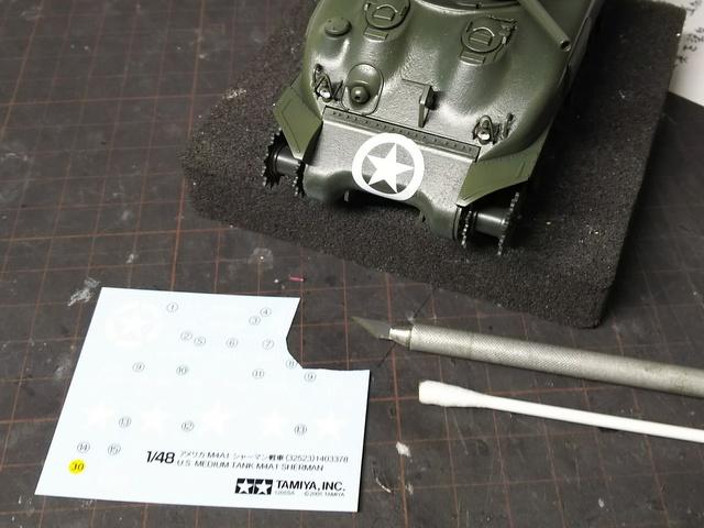 タミヤの1/48シャーマンM4A1製作記-22