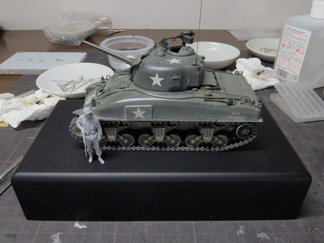 タミヤの1/48シャーマンM4A1製作記-28