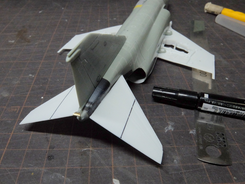 F-4Jファントム再開-2(垂直尾翼の続き編)