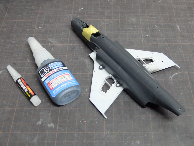 F-4Jファントム再開-8(胴体貼り合わせ編)