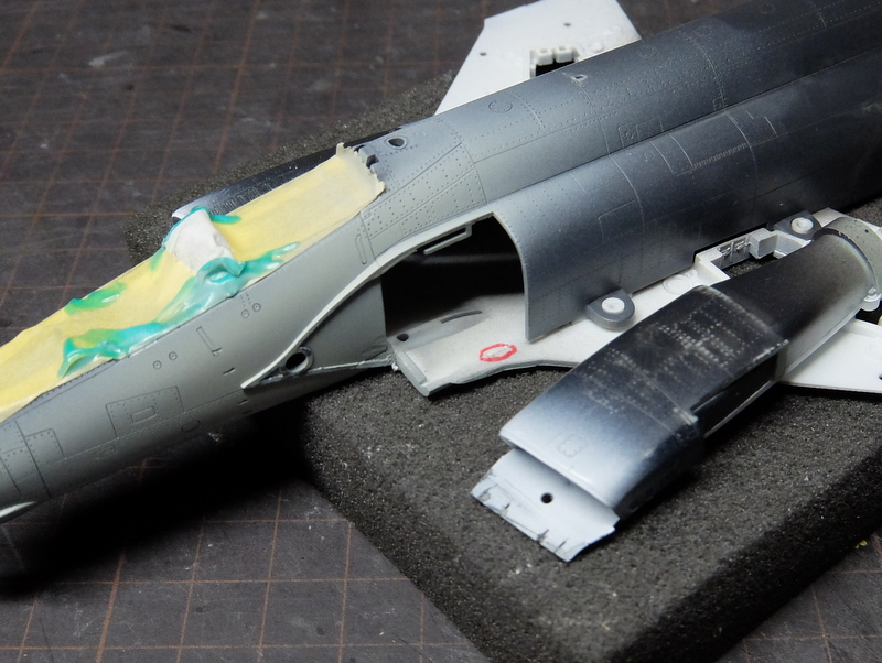F-4Jファントム再開-9(インテーク取付編)