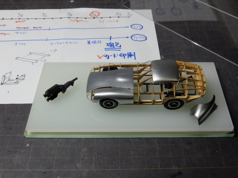 デイトナクーペのエンジンを作る-4