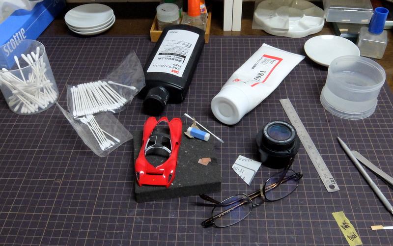 P4/5製作記20-ボディの研ぎ&磨き