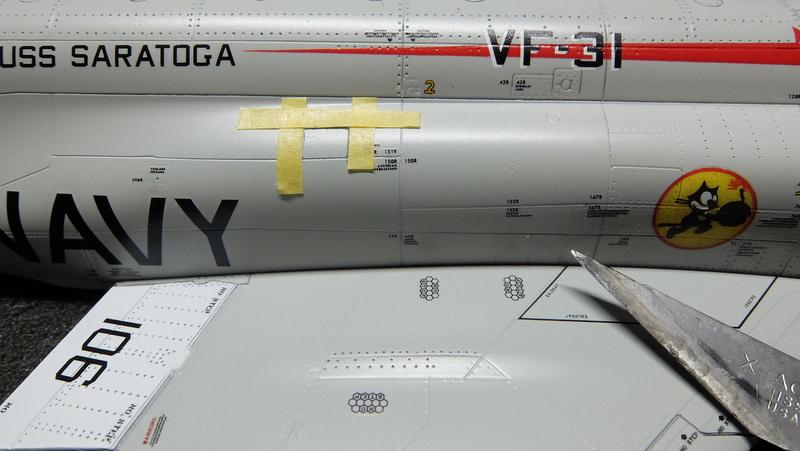 アカデミーのファントム製作記11-機体にディテール追加
