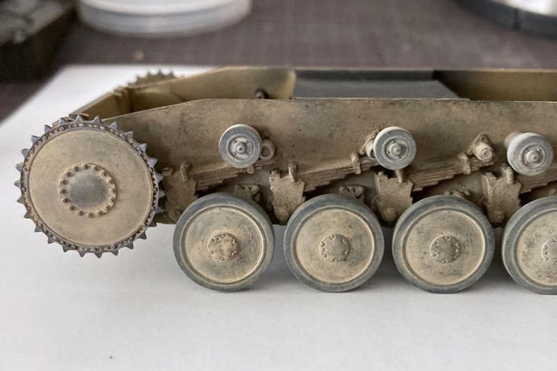レトロなII号戦車製作記 – 転輪周りの泥汚れ